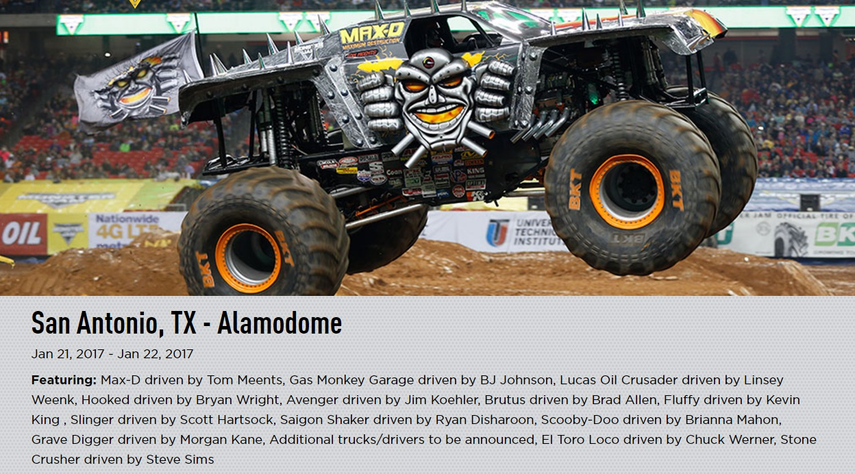 In The News Monster Jam Truck Tickets